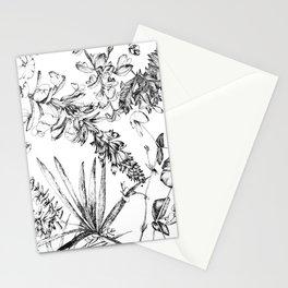 botanical illustration in black ink Stationery Cards