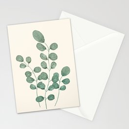Watercolor Eucalyptus Stationery Cards