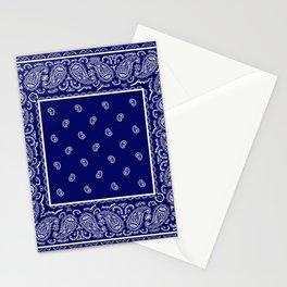 Blue and White Bandana Stationery Cards