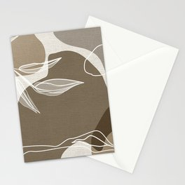 Leafy Lane in Neutral 1 Stationery Cards