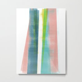 Colorful Geometric Abstract Minimalist Monotype 2 Metal Print