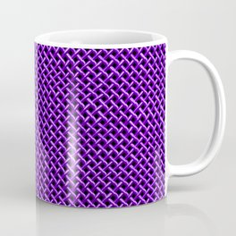 Purple Wire Mesh Pattern Coffee Mug