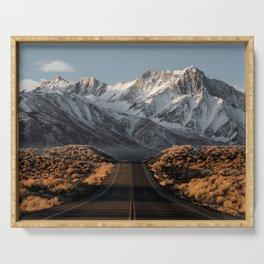Sierra Nevada, USA | winter landscape photo Edit Serving Tray