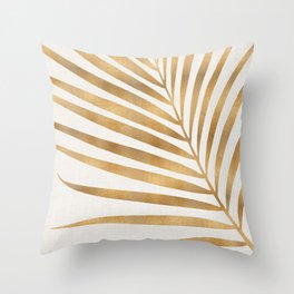 Metallic Gold Palm Leaf Deko-Kissen