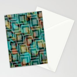 Black and White Squares Pattern 07 Stationery Cards