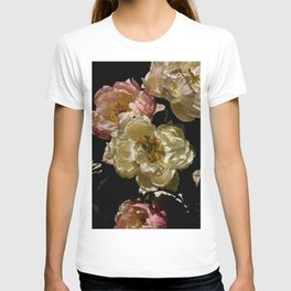 Peonies on Black.4545 T-shirt
