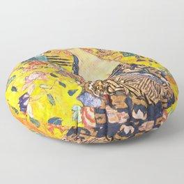 """Gustav Klimt """"Dame mit Fächer"""" Floor Pillow"""