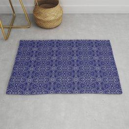 Dark Intricacy Persian Rug Magic Carpet Midnight Blue Indian Pattern Spirit Organic Rug
