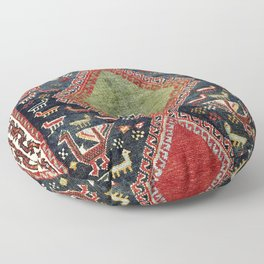Luri Fars Southwest Persian Animal Carpet Print Floor Pillow