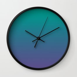 Bright Green Ultra Violet Gradient | Pantone Color of the year 2018 Wall Clock