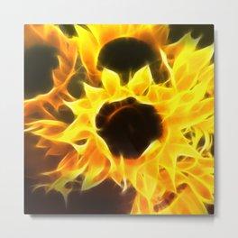 Flame Petaled Sunflowers Metal Print