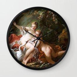 Leda and the swan - Francois Boucher Wall Clock
