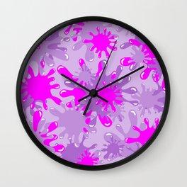 Slime in Lavenders & Pink Wall Clock