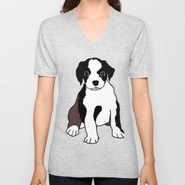 Puppy Dog Unisex V-Neck