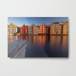Norway Sea Cityscape Metal Print