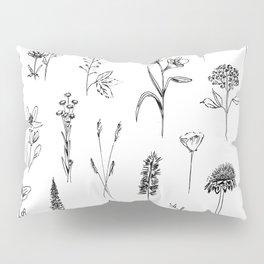 Patagonian wildflowers white Kissenbezug