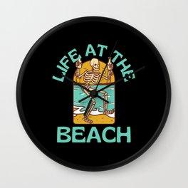 Life At The Beach Wall Clock