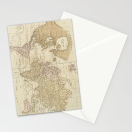 Vintage Map of The World (1775) 4 Stationery Cards