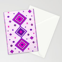 Purple Heritage Traditional Boho Moroccan Style Stationery Cards