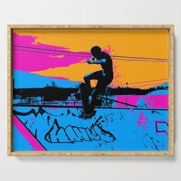 On Edge - Skateboarder Serving Tray