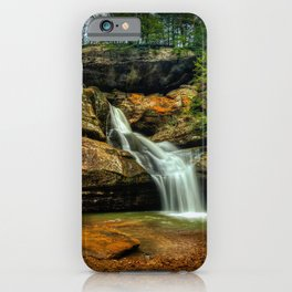 USA Hocking Hills State Park Logan Ohio Rock Nature Waterfalls Parks Crag Cliff park iPhone Case