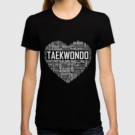 Love Taekwondo Heart T-shirt