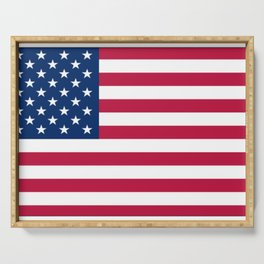 Flag of USA - American flag, flag of america, america, the stars and stripes,us, united states Serving Tray