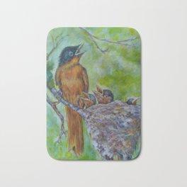 Birds Nesting by Marianne Fadden Bath Mat