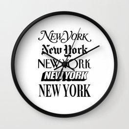 I Heart New York City Black and White New York Poster I Love NYC Design black-white home wall decor Wall Clock