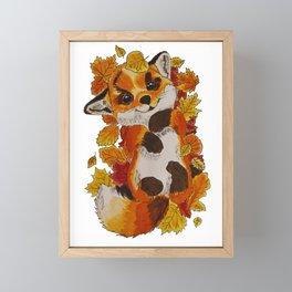 Cute Fox automn Framed Mini Art Print