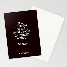 City Ord.  369 Stationery Cards