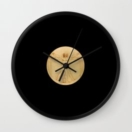 Leonardo da Vinci -Vitruvian Man -L'Uomo Vitruviano Wall Clock