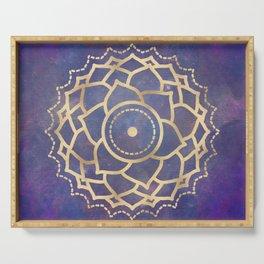 Mandala Chakra Copper and Purple Crown Chakra Serving Tray