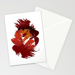 Lovers couple Stationery Cards