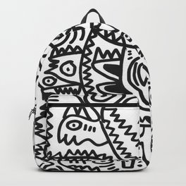Black and White Graffiti Art of the morning by Emmanuel Signorino  Backpack
