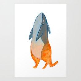 Cat Fish Hybrid Art Print