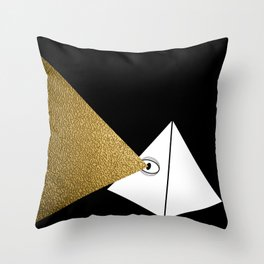 Mind's Eye (Limited Edition Gold Beam) Throw Pillow