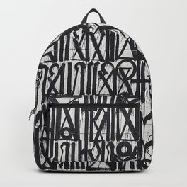 A urban city photograph of wall and a graffiti in Arab style Backpack