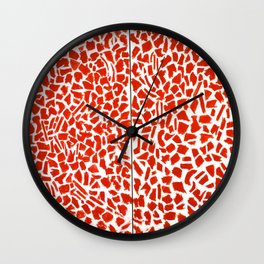 African American Masterpiece Alma Thomas, Red Azaleas Singing and Dancing Rock and Roll Music Wall Clock