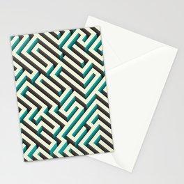Cyan Maze Stationery Cards