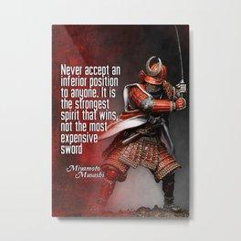Miyamoto Musashi Samurai Winner Metal Print