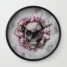 Lily Sugar Skull Wall Clock
