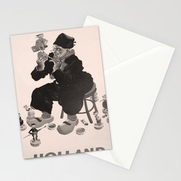 retro dark Holland old psoter Stationery Cards