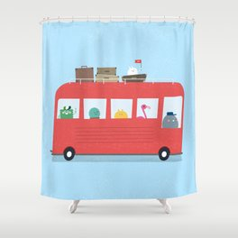 Funny Bus Shower Curtain