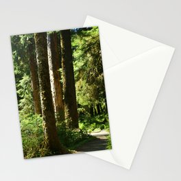 Walkway in Hoh Rainforest Stationery Cards