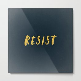 RESIST 6.0 - Freedom Gold on Navy #resistance Metal Print