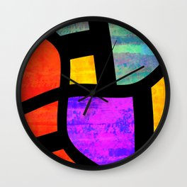 All the Right Angles, Abstract Art Wall Clock