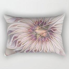 Flourish 2, Abstract Fractals Art Rectangular Pillow