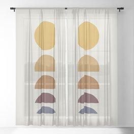 Minimal Sunrise / Sunset Sheer Curtain