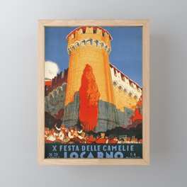 plakate locarno x festa delle camelie locarno 1934 castle Framed Mini Art Print